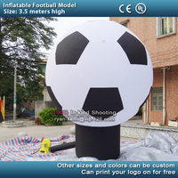 Free shipping 3.5m high inflatable football model giant inflatable soccer balloon for display with blower