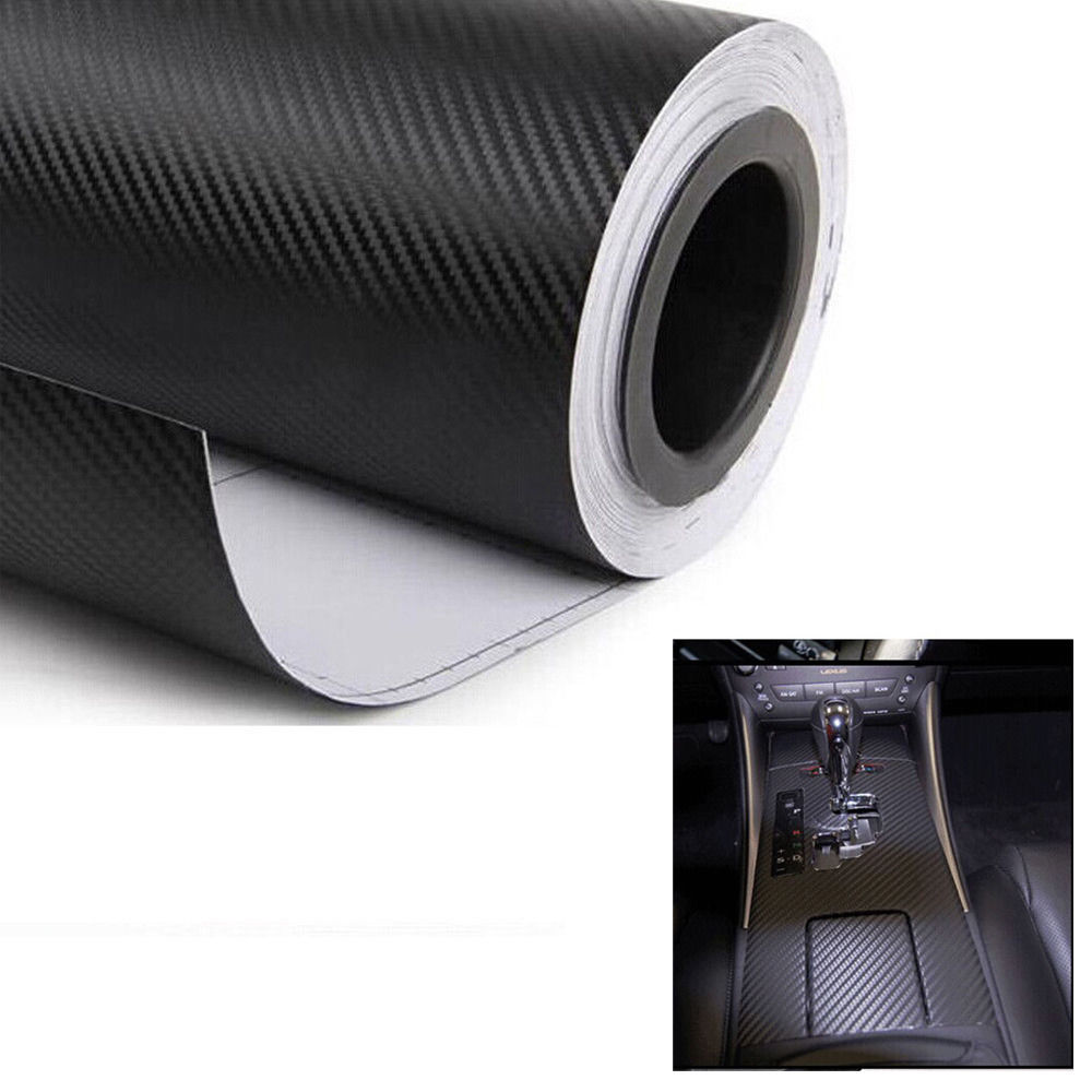 цена на EE support Car Body Film 3D Black Carbon Fiber Vinyl Self Adhesive Car Wrap Sticker Air Release Black 31/50cm Auto Accessories
