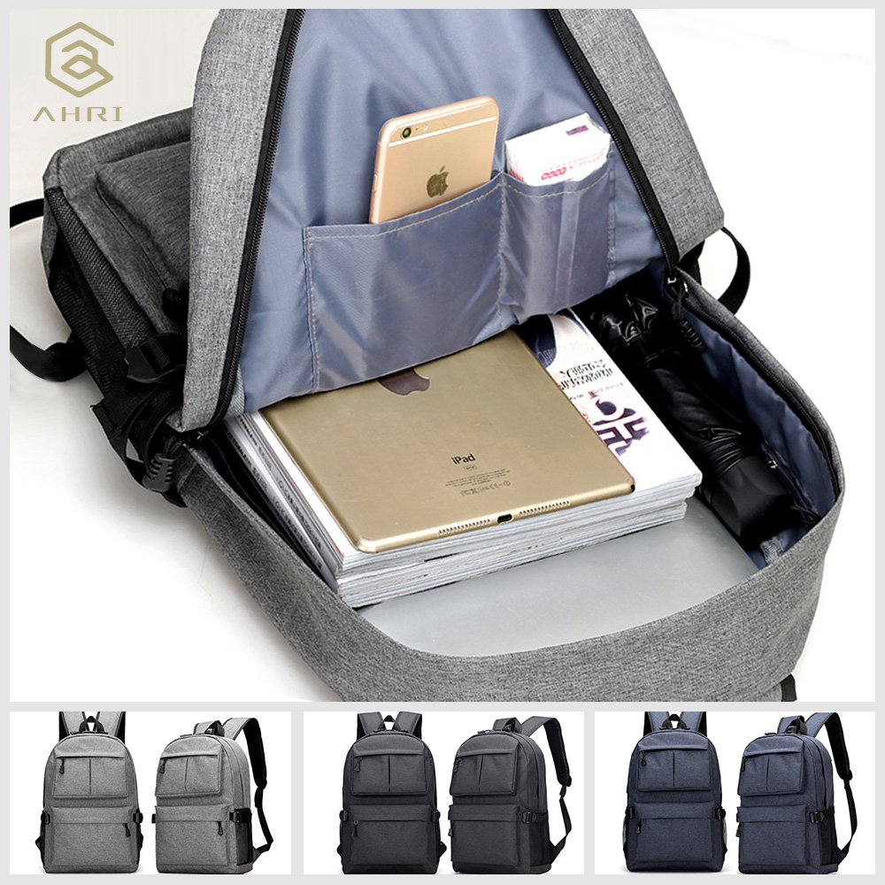 a7dd7b3865cd AHRI USB Unisex Design Backpack Book Bags for School Backpack Casual  Rucksack Daypack Oxford Canvas Laptop