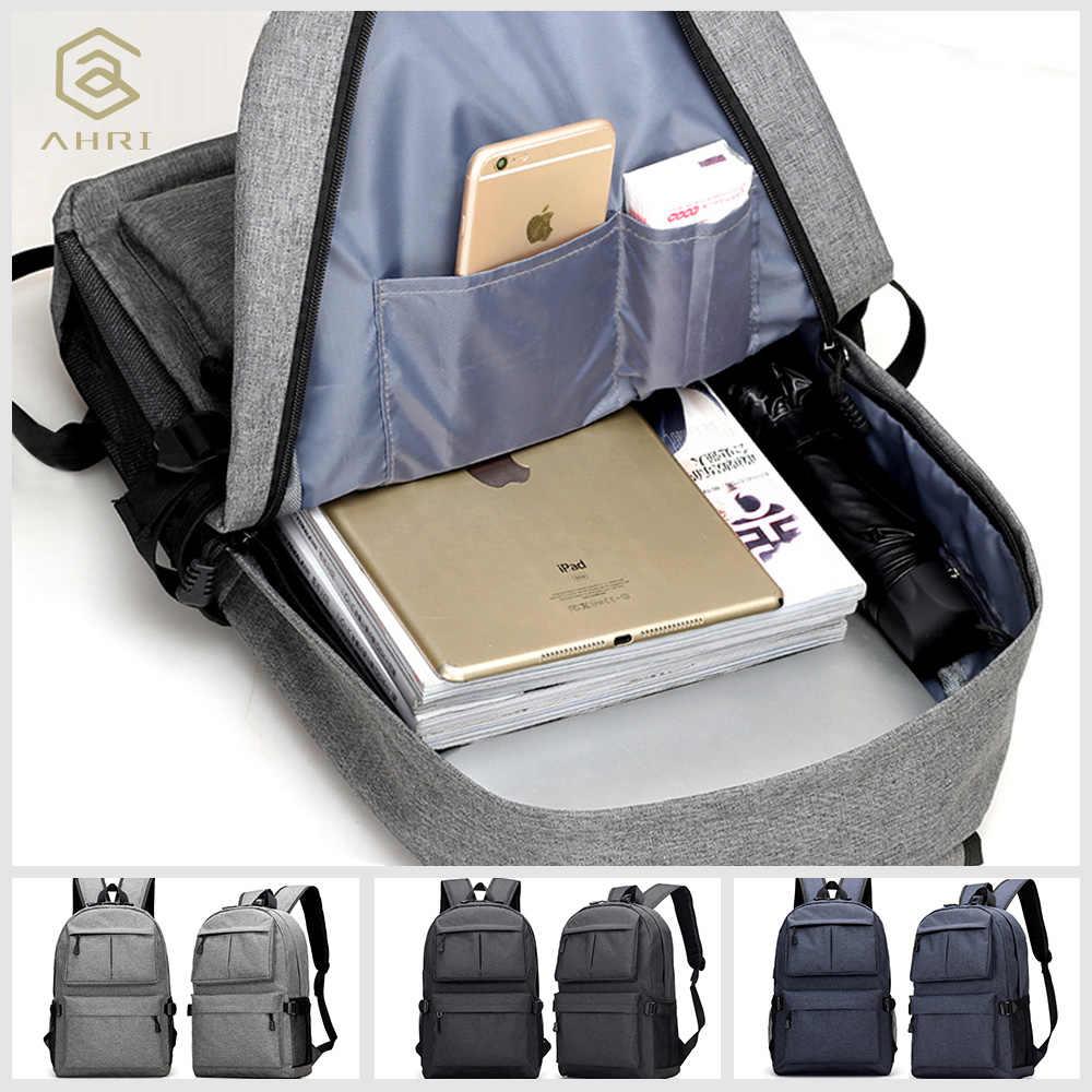 AHRI USB унисекс дизайн рюкзак сумки для книг для школы рюкзак повседневный рюкзак Оксфорд холст ноутбук Модные мужские рюкзаки