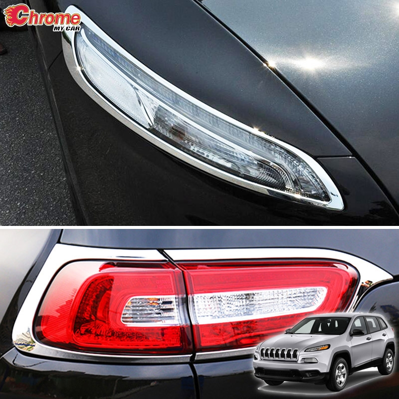 Rear Tail Light Cover for Jeep Grand Cherokee 2014 2015 2016 Chrome Protect Trim