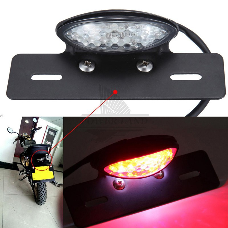 Electric Vehicle Parts Accessories Universal Red Cross Led Rear Tail Brake License Plate Light For Choppers Quads High Quality
