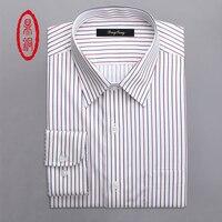 DINGTONG Men Custom Made Dress Shirt Men S Long Sleeve Multicolor Striped Cotton Casual Shirts 3