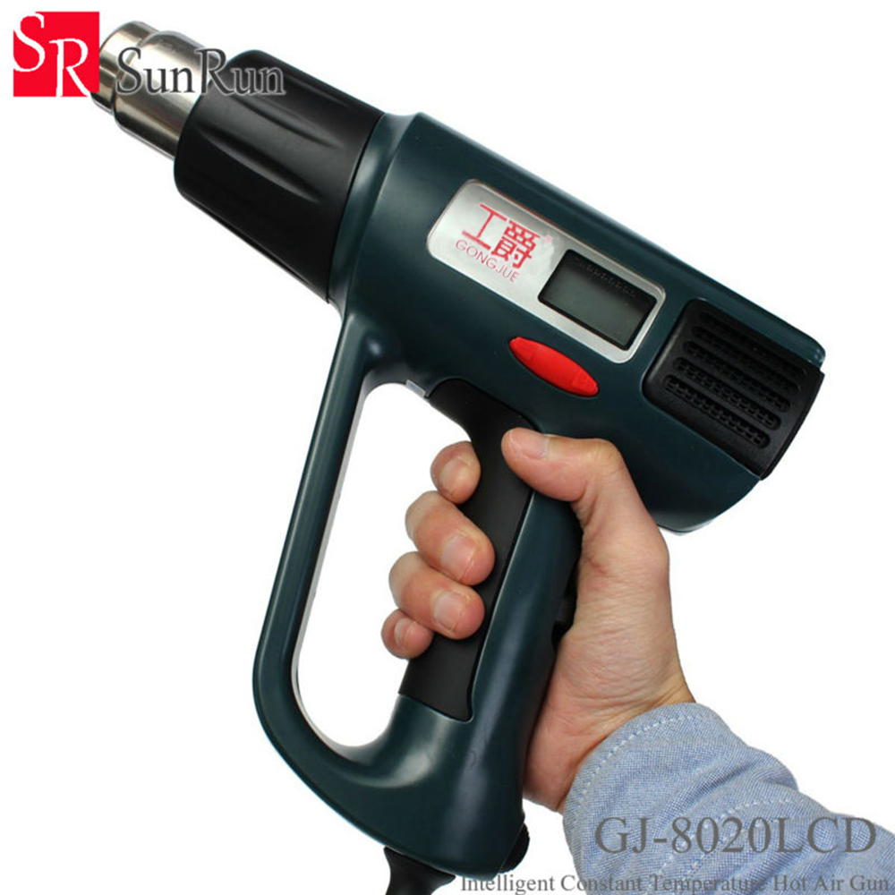 цена на GONGJUE GJ-8020LCD 2000W AC 220V Heat Gun Hot Air Gun Welding Temperature Stripper Tool