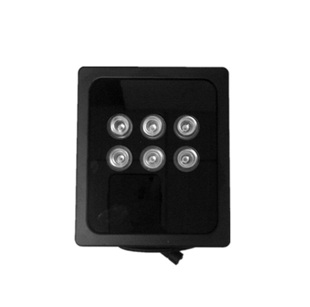 IR proyector luz infrarroja 6 LED matriz de alta potencia 850nm IR luz para la cámara de CCTV Luz de relleno IP66