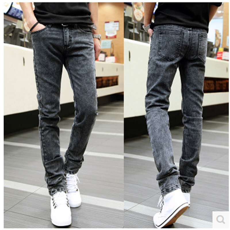 Fashion Spring Biker Men Denim Jeans Casual Slim Pencil Pants Man Full Long Skinny Jeans Clothing Plus Size 28-34 men s cowboy jeans fashion blue jeans pant men plus sizes regular slim fit denim jean pants male high quality brand jeans