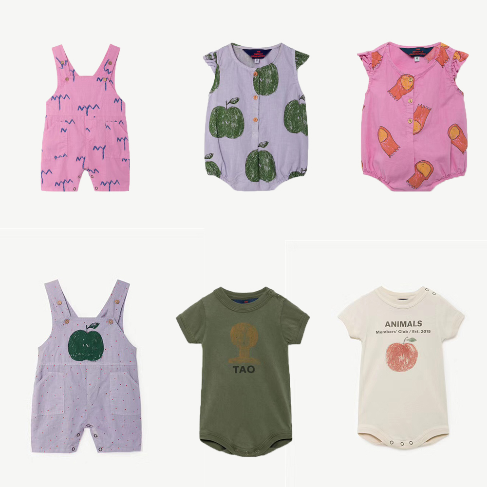 Baby Rompers TAO Brand Boys Girls Newborn Jumpsuits Children Clothes Infant Apple Printing Romper 2018 New Summer Bobo Choses baby boys rompers infant jumpsuits mickey baby clothes summer short sleeve cotton kids overalls newborn baby girls clothing