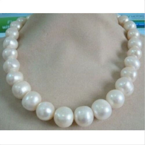 fast huge 12-13mm natural tahitian south sea white green pearl necklace 18