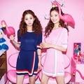 Лето хит цвет нерегулярные 2 шт.. 2 шт. комплект набор полосатой рубашке юбка костюм вязаная мода две женщины-harajuku