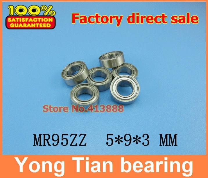 Free Shipping 10 PCS MR95ZZ ABEC-5 5X9X3 mm Deep groove Ball Bearings MR95 / L-950 ZZ mr j60a 95
