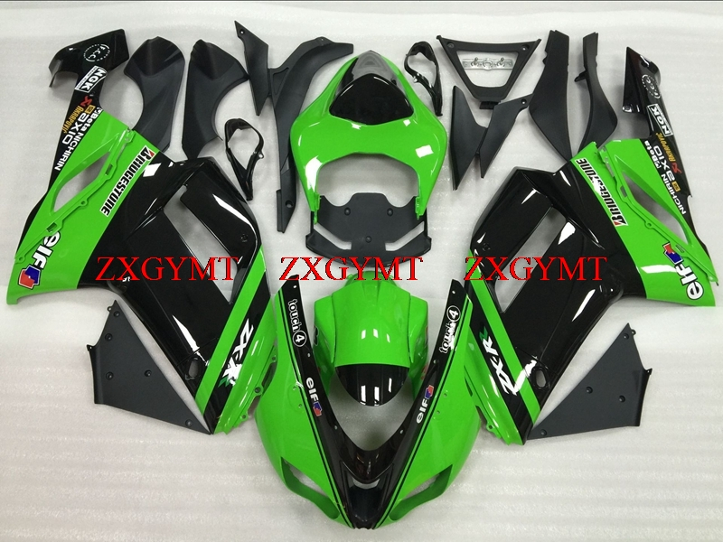Fairing for Ninja Zx-6r 2007 - 2008 Plastic Fairings 636 Zx-6r 2008 Green Black Bodywork 636 Zx-6r 07Fairing for Ninja Zx-6r 2007 - 2008 Plastic Fairings 636 Zx-6r 2008 Green Black Bodywork 636 Zx-6r 07