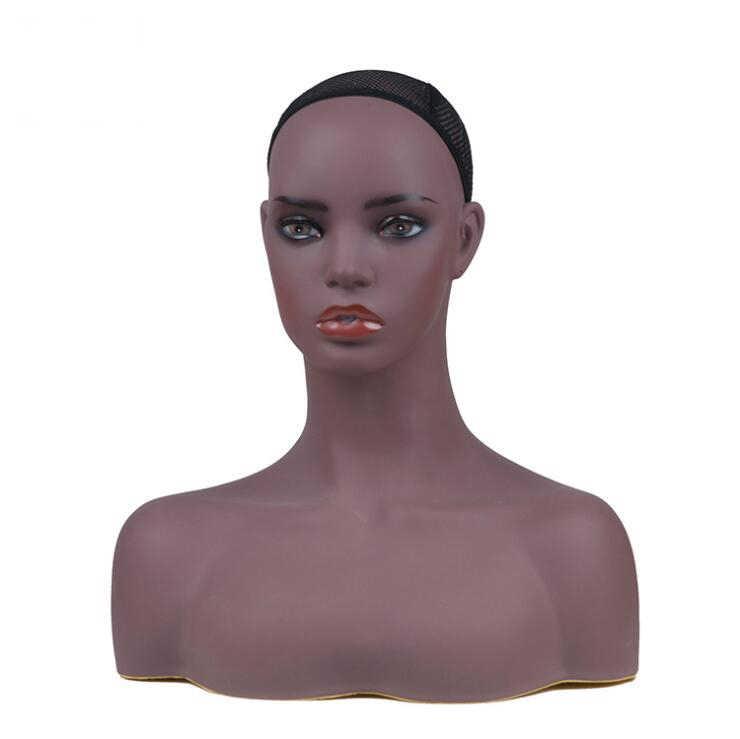 Африканские реалистичные манекен голова бюст продажа для волос парик ювелирные изделия шляпа серьги шарф дисплей Maniqui куклы манекен для парика парик голов