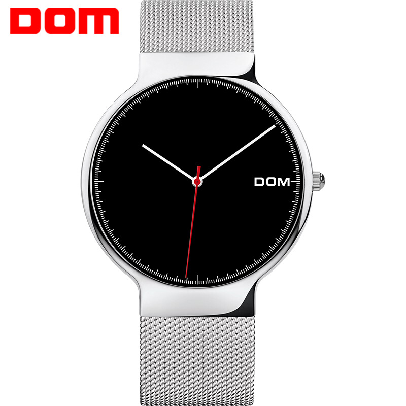 DOM Watch 2019 Explosive Watch Fashion Ultra-thin Mesh Belt Nordic Simple Three-needle Waterproof Meter M-32GK-1MH
