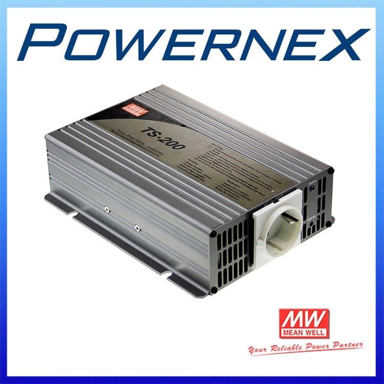 [PowerNex] MEAN WELL original TS-200-112A 10.5 ~ 15VDC 20A USA meanwell TS-200 200W True Sine Wave DC-AC Power Inverter стоимость