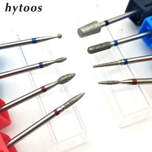 HYTOOS 3Pcs/lot Diamond Nail Drill Bits 3/32″ Manicure Cutters Bits For Cuticle Drill Accessories Nail Mill Tools Wholesale