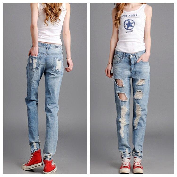Aliexpress.com : Buy Boyfriend Distressed Jeans For Women Plus