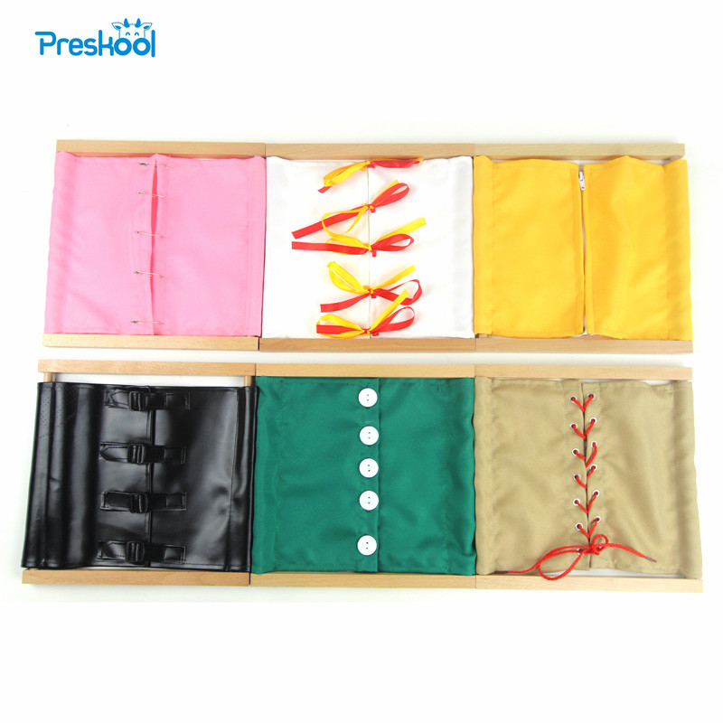 Image 1 - Montessori Kids Toy Baby 1 Lot = 6 Pcs Dressing Frame Teaching Learning Educational Preschool Training Brinquedos Juguets-in Math Toys from Toys & Hobbies