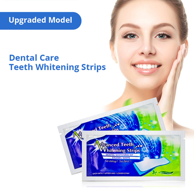 Tongwode Teeth Whitening Strips 28pcs/14 Pairs per Lot Professional Teeth Bleaching Whitener Gel Strips For Perfect Smile