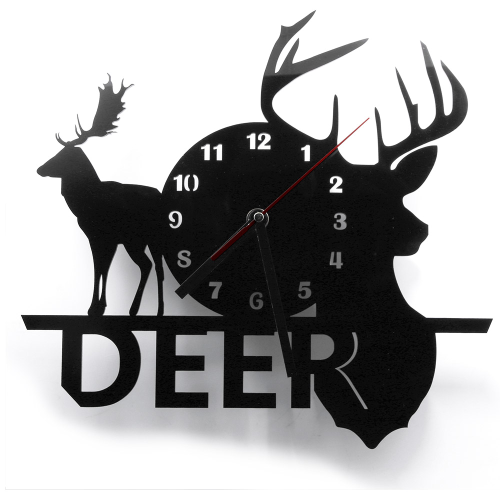 1piece beautiful christmas deer wall clock modern. Black Bedroom Furniture Sets. Home Design Ideas