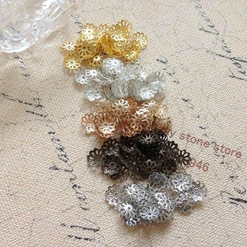 9MM 2000Pcs Metal Bead Caps DIY Jewelry Findings & Components