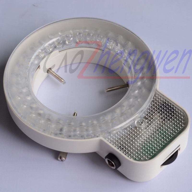 FYSCOPE Sale fast led light 64 pcs can control LED Light white ring microscope illumination Microscope