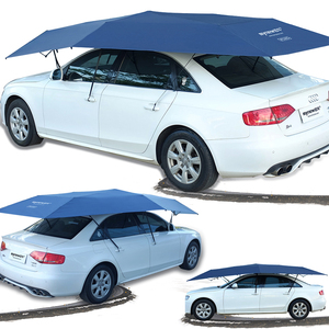 Image 3 - 450x230cm Automatic car umbrella with Remote Control Automatic car awning tent sun shelter for car outdoor tent