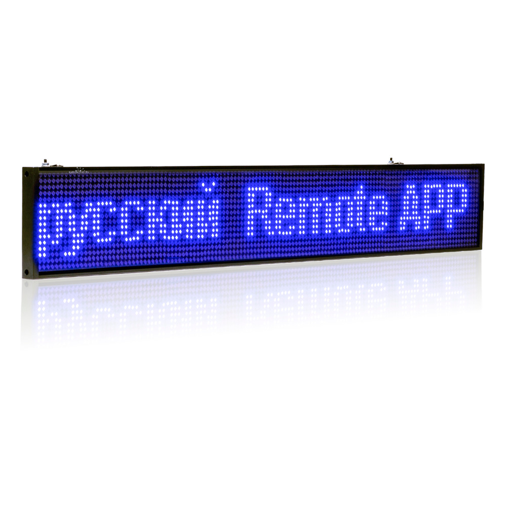 Electronic Components & Supplies 32-in Blue Android Usb Wifi Led Sign Wireless Programmable Rolling Information P5 Smd Advertising Indoor Led Display Board