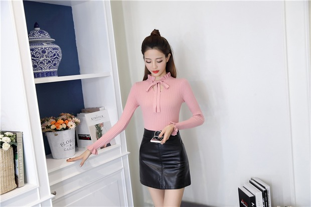 19 new fashion Slim Knitted Sweater Female Long Sleeve Autumn Sweater Womens Pullovers Sweaters Winter Sweater Women 11