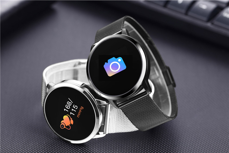 MAFAM Q8 Smart Watch OLED Color Screen Smartwatch Men Women Fashion Fitness Tracker Heart Rate Monitor For IOS Android Watch (26)
