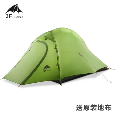 3F Zhengtu2 super light double layer 2 person 210T 4 season camping tent high quality outdoor 2 person camping tent double layer aluminum rod ultralight tent with snow skirt oneroad windsnow 2 plus