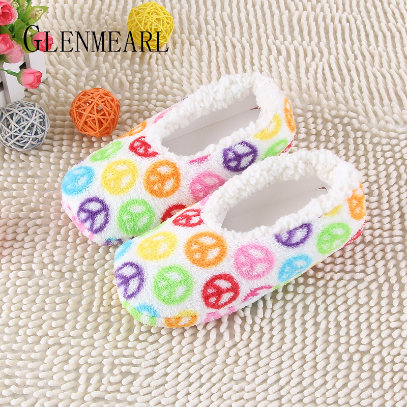 2017 Hot Selling Lovely Warm Soft Sole Women Indoor Floor Slippers/Shoes Flannel Home Slippers 3 Color Plus Size Winter Shoes 30 men winter soft slippers plush male home shoes indoor man warm slippers shoes