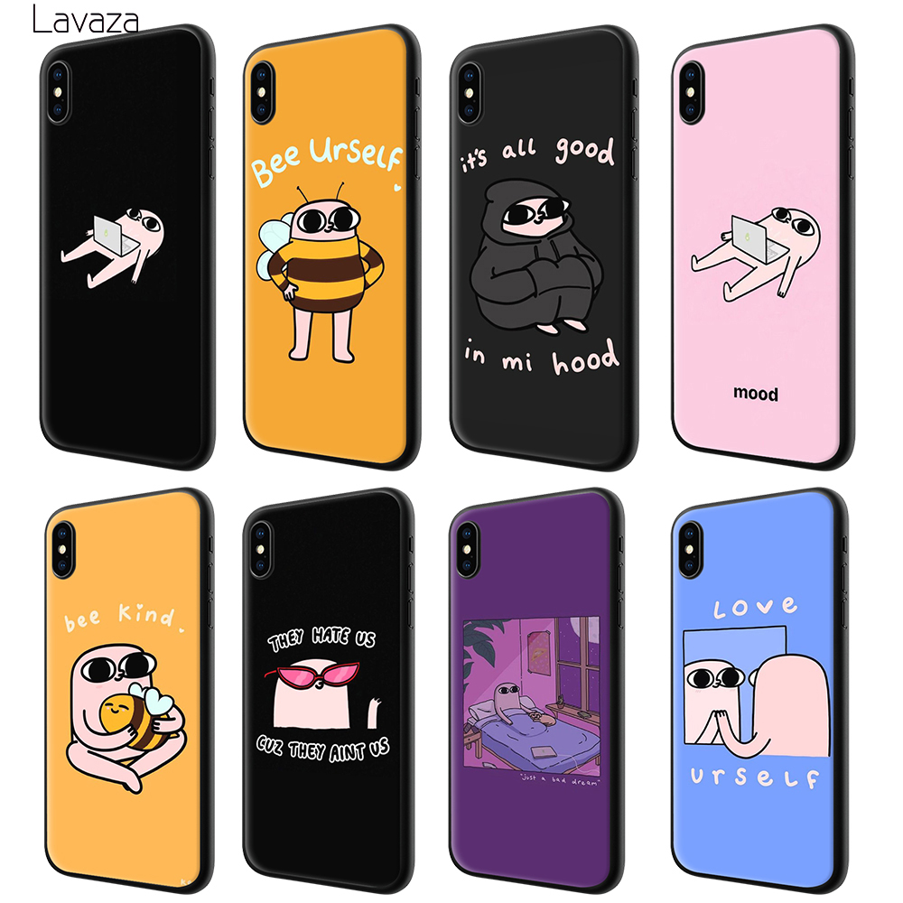 Lavaza ketnipz Colorful Cute Soft Case for Apple iPhone 6 6S 7 8 Plus 5 5S SE X XS MAX XR TPU Cover in Fitted Cases from Cellphones Telecommunications