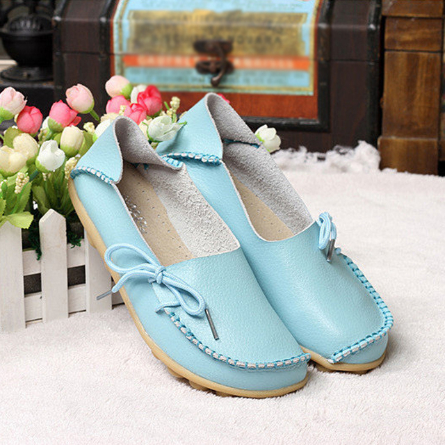 PU Leather Women Flats Moccasins Loafers Wild Driving women Casual Shoes Leisure Concise Flat shoes