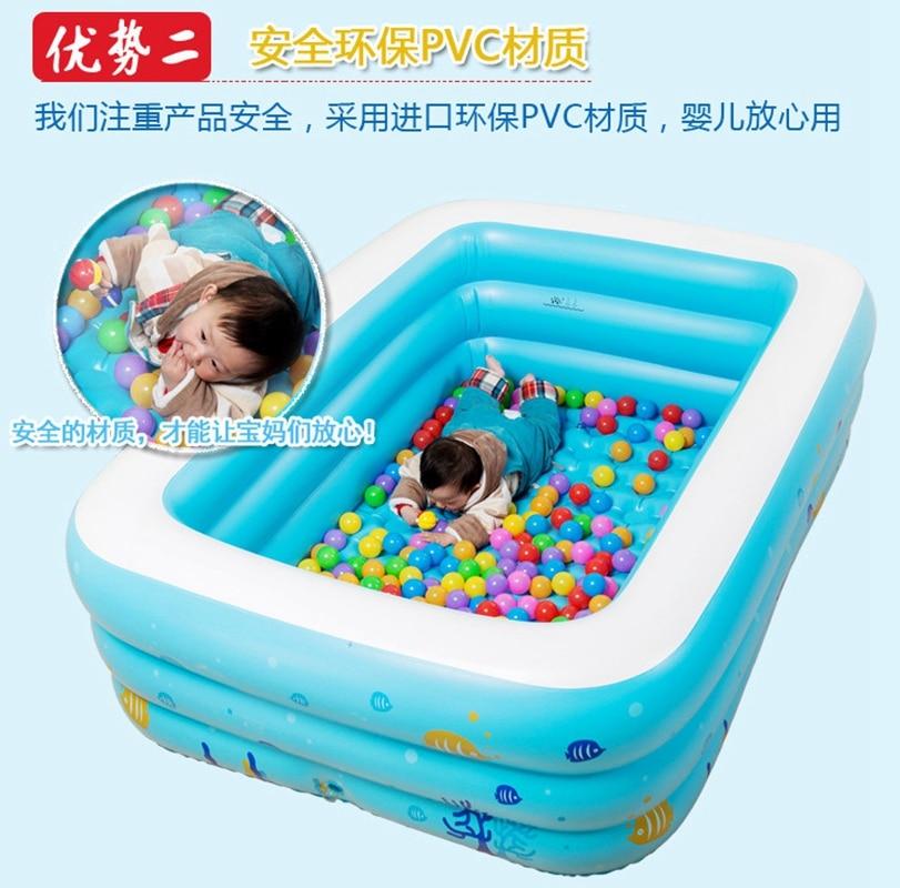Grands enfants famille en plein air coloré bulle fond éclaboussures adulte baignoire gonflable Piscine 196x143x60 cm - 2