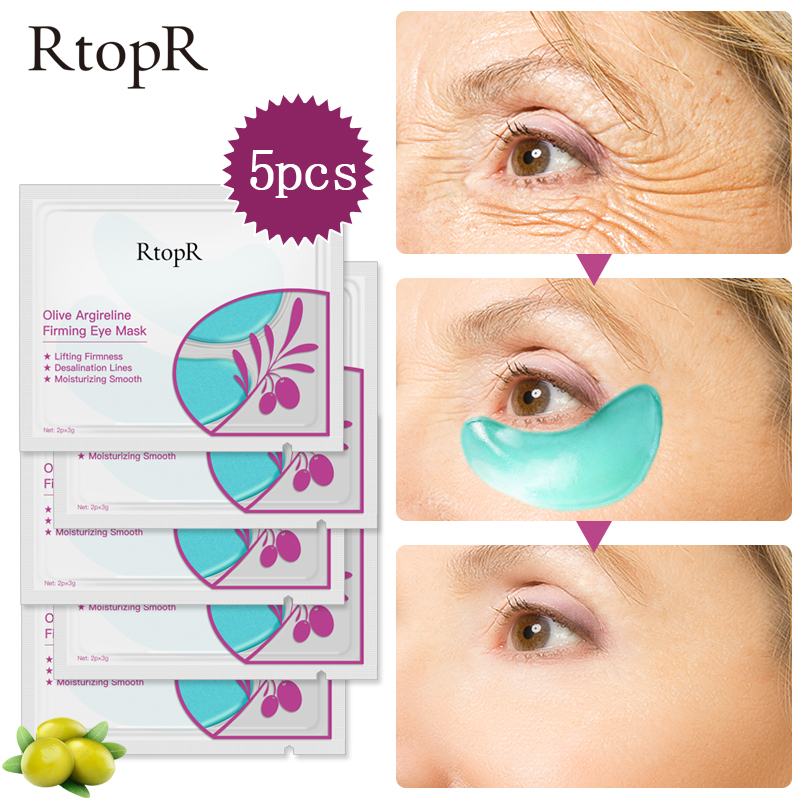 Eye-Mask Face-Skin-Care Firming Olive Dark-Circles Collagen Anti-Aging Puffiness 5packs