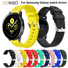 20mm watchbands Silicone bracelet For Samsung Galaxy watch Active watches strap Replace wristband Gear sport S2 band