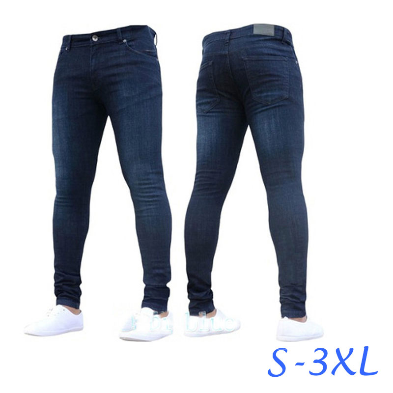 2018 New Fashion Blue Skinny   Jeans   Men Brand Slim Fit Cotton Denim Trousers Spijkerbroek Mannen Hip Hop Casual Thin   Jeans   Pants
