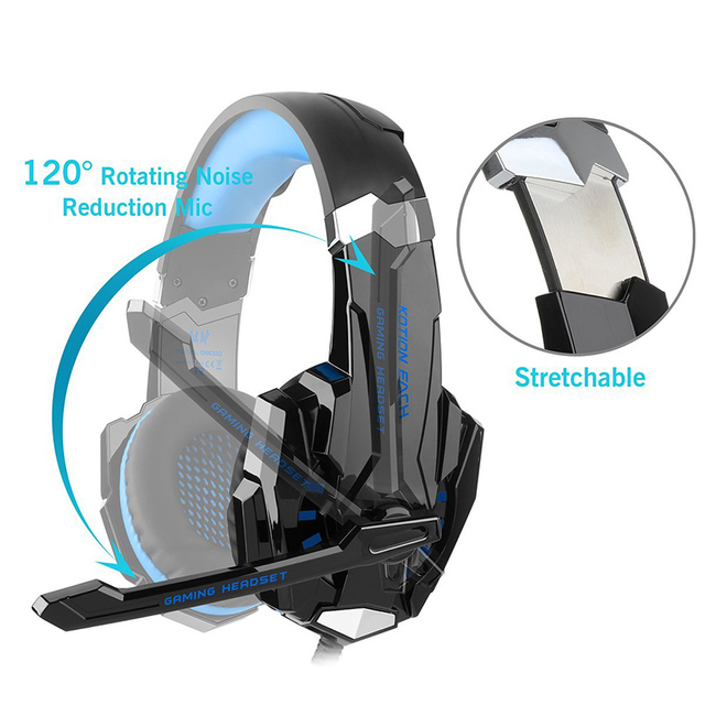 45086066fe9 KOTION EACH G9000 3.5mm gaming headset gamer headphones with microphone  noise canceling for New Xbox One/PS4/tablet/phone/Laptop. Previous; Next