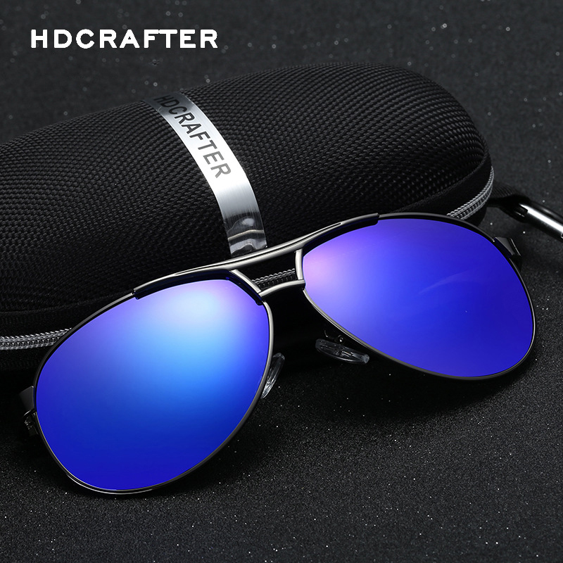 f9337b1478 HDCRAFTER 2017 New Polarized Brand Designer Sunglasses Men Sports Vintage  Sun Glasses Fashion Eyewear oculos de sol masculino-in Sunglasses from  Apparel ...