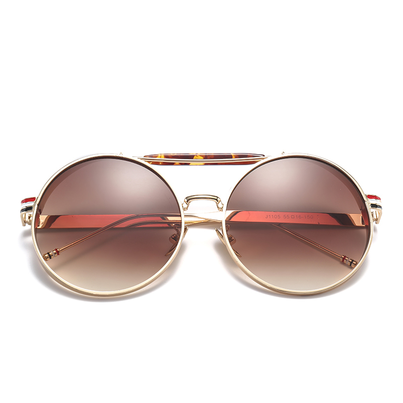 Badtemper Vintage Steampunk Sunglasses Goggles Round Sunglasses Men Women Brand Design Metal Frame Glasses Mirror Shades