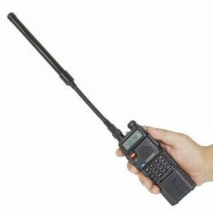 Image 4 - ABBREE AR 148 Gooseneck SMA Female 144/430MHz VHF UHF Dual Band Tactical Antenna For  Baofeng UV 5R UV 82 UV 9R Walkie Talkie