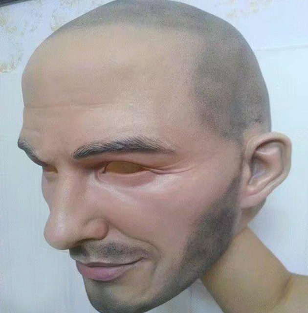 Free shipping Halloween Party Cosplay Famous Man David Beckham Face Mask Latex Party Real Human Face Mask Cool realistic mask