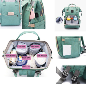 Image 5 - New Large Capacity Maternity Backpack Women Travel Diaper Bag with USB Fashion Waterproof Nappy Nursing Bag Kits Mummy Baby Care