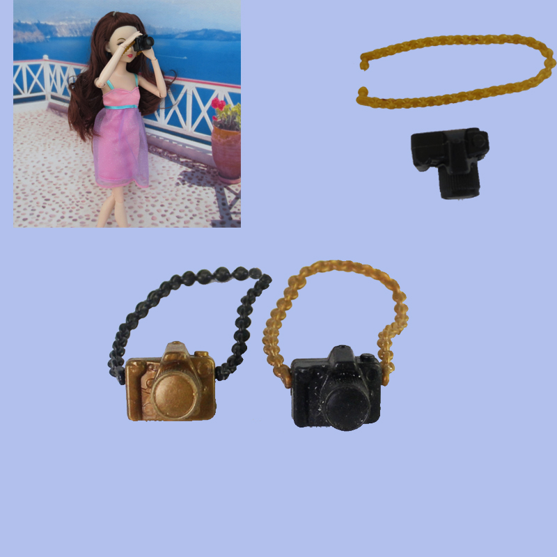 3pcs/lot Doll Accessories Plastic Fake Camera For Barbie Doll DIY Camera For BJD Doll For Monster high Doll Toys image