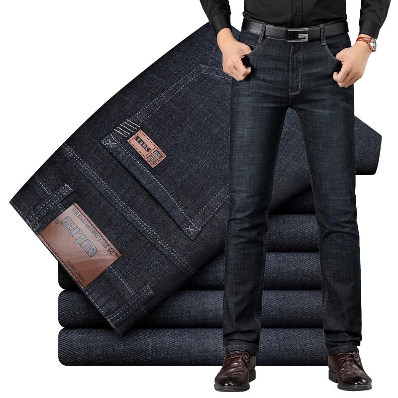 2019 SULEE Brand European American Style Men's Elastic Cotton Stretch Jeans Pants Loose Fit Denim Trousers Men's Brand 8853