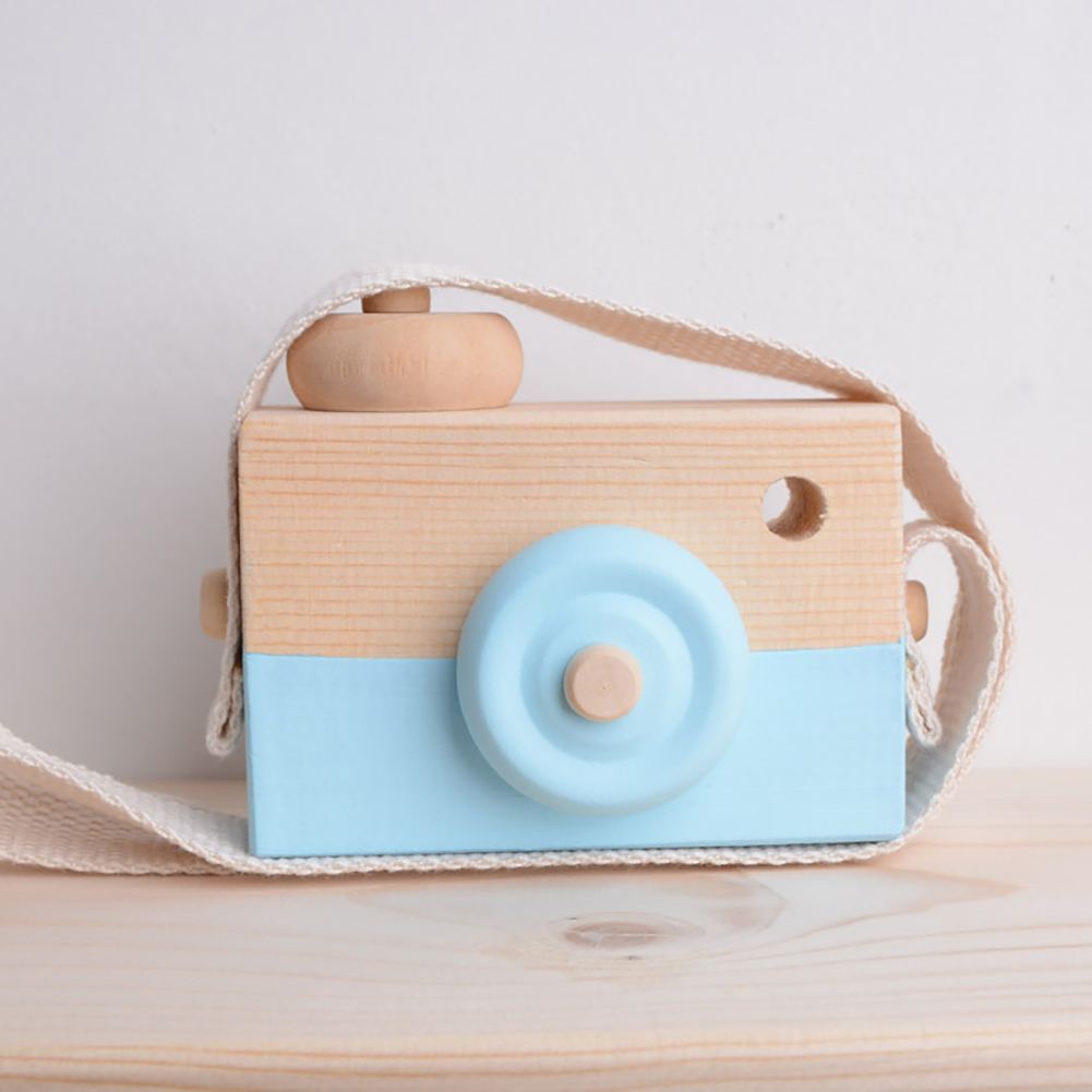 Cute Nordic Hanging Wooden Camera Toys Kids Toy Gift 9cm*3.5cm*8cm Room Decor Furnishing Articles Wooden Toys For Kid
