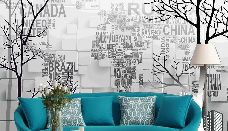 Any Size Custom 3d wallpaper Mural HD Abstract  tree wallpaper for walls 3 d Office Hotel KTV Living Room Background 3d rock n roll music it s my time any size custom wallpaper mural rolls hotel restaurant coffee bar ktv living room background