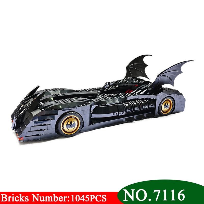 1045Pcs AIBOULLY 7116 Superhero Batman The Ultimate Batmobile Model Building Blocks Toy Kids DIY bricks Bringuedos