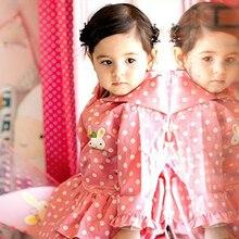 75-115cm pink nylon polka dots child princess raincoat rainwear for children kids girls baby rain coat poncho  waterproof trench