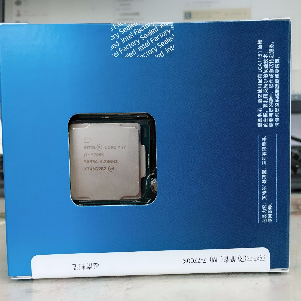Intel Pc Core 7 Series Processor I7 7700k Boxed Cpu Lga 1151 Land Fc 14 Nanometers Quad In Cpus From Computer Office On